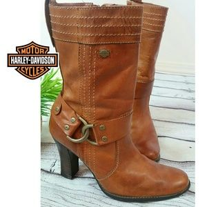🎉HP🎉HARLEY DAVIDSON Womens Ankle boots cognac